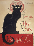 Le Chat Noir Giclée-tryk af Theophile Steinlen