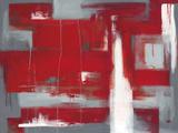 赤の抽象画 ジクレープリント : レイ・バンクス