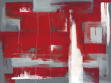 Red Abstract Giclee Print by Leigh Banks