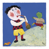 The Boy Blew His Horn Giclee Print by Barbara Olsen