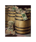 Barrels of Money Premium Giclee Print by Victor Dubreuil