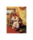 La Toilette, 1891 Premium Giclee Print by Georges Croegaert