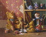 Ted and Friends III Giclee Print by Raymond Campbell