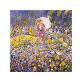The Flower Garden, 1912 Premium Giclee Print by Frederick Carl Frieseke