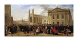 Degree Morning, Cambridge, 1863 Premium Giclee Print by Robert Farren