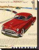GM Oldsmobile - Rocket Engine Stretched Canvas Print