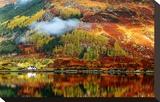 Scottish Highlands Fall Colors Impressão em tela esticada