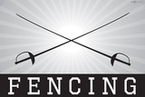 Fencing Sports Poster Print Prints