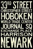 NY/NJ PATH Train Stations Vintage RetroMetro Travel Poster Poster