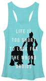 Juniors Tank Top: Star Wars- Don't Look for the Droids Tank Top