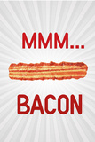 MMM... Bacon Art Poster Print Posters