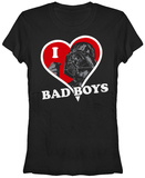 Juniors: Star Wars- I Heart Bad Boys Shirt