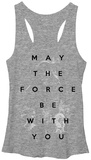 Juniors Tank Top: Star Wars- Force Quote Tank Top