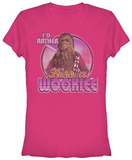 Juniors: Star Wars- Kiss a Wookie T-Shirt