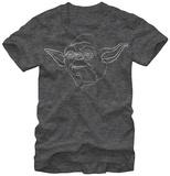 Star Wars- Yoda Outline Skjorter
