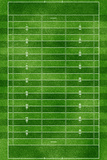 Football Field Gridiron Sports Poster Print Plakater