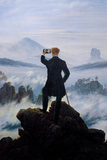 Wanderer Selfie Portrait Print