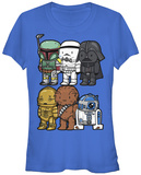 Juniors: Star Wars- Cute Wars T-shirts
