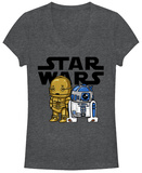 Juniors: Star Wars- Classic Buddies V-Neck Camiseta