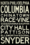 Philadelphia Broad Street Line Stations RetroMetro Poster Print