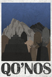 Qo'noS Retro Travel Poster Prints
