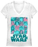 Women's: Star Wars- Faces of the Adventure V-Neck Womens V-Necks