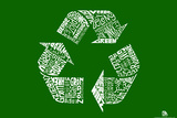Recycle Green Languages Text Poster Poster
