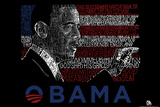 Obama America the Beautiful Lyrics Poster Posters
