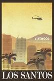 Los Santos Retro Travel Poster Foto