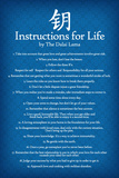 Dalai Lama Instructions For Life Blue Motivational Poster Art Print Plakater