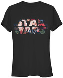 Juniors: Star Wars- Antique Flowers Logo Shirts