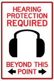 Hearing Protection Required Past This Point Sign Poster Posters