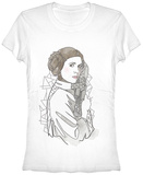 Juniors: Star Wars- Leia Outline T-Shirt