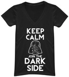 Juniors: Star Wars- Join the Dark Side V-Neck Shirts