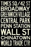 New York City Subway Style Vintage RetroMetro Travel Poster Posters