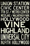 Los Angeles Metro Rail Stations Vintage Subway RetroMetro Travel Poster Prints