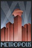 Metropolis Retro Travel Poster Reprodukcje