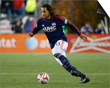 2014 MLS Playoffs: Nov 9, Columbus Crew vs New England Revolution - Jermaine Jones Posters by Winslow Townson
