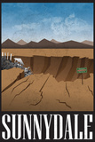 Sunnydale Retro Travel Poster Affiches