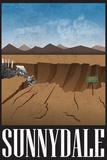 Sunnydale Retro Travel Poster Kunstdrucke