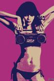 Steez Bikini Boombox - Purple Posters