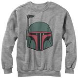 Crewneck Sweater: Star Wars- Mandalorian Helmet Tshirt