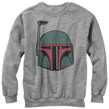 Crewneck Sweater: Star Wars- Mandalorian Helmet T-Shirt