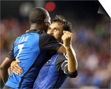 Jul 23, 2014 - MLS: Chicago Fire vs San Jose Earthquakes - Cordell Cato, Chris Wondolowski Prints by Kelley L Cox