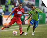 2014 MLS Playoffs: Nov 10, FC Dallas vs Seattle Sounders - Tesho Akindele, DeAndre Yedlin Posters by Joe Nicholson
