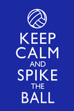Keep Calm and Spike the Ball Volleyball Poster Prints