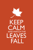 Keep Calm and Watch the Leaves Fall Poster Posters
