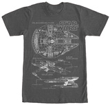 Star Wars- Rebel Schematics Shirts