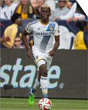 2014 MLS Cup Final: Dec 7, New England Revolution vs LA Galaxy - Gyasi Zardes Print by Kyle Terada