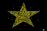 Twinkle Little Star Text Poster Posters